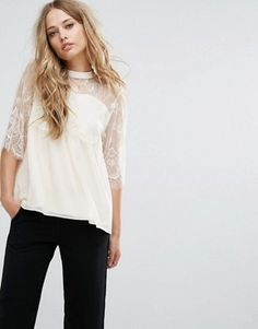 Lace Tops   Lace Camis, Shirts & Blouses   ASOS