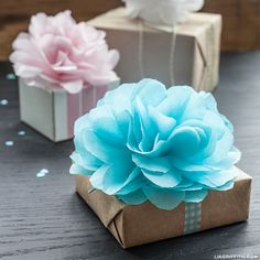 Delightful paper flowers/poms for your gift boxes / party decorations