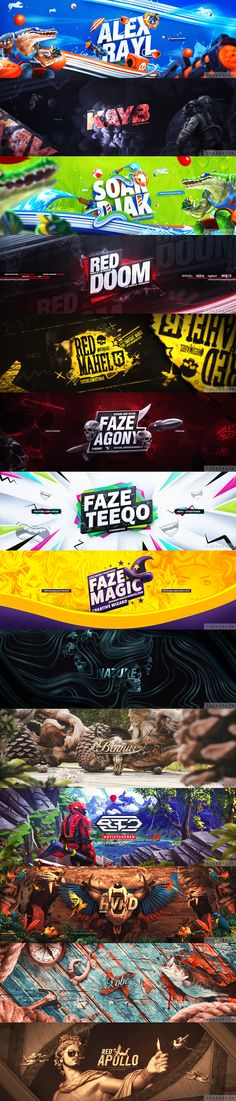 Social media banners. Photoshop work