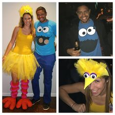 Cool diy count big bird and baby elmo family halloween costumes big bird cookie monster more solutioingenieria Image collections