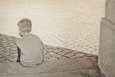 Lonely Boy Child Sad Black And White