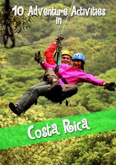 Top ten adventure activities in Costa Rica every Costa Rica TEFL student must try!