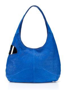 37b88d222233 Halston Heritage Sack Hobo-in a cobalt blue! Logo Line