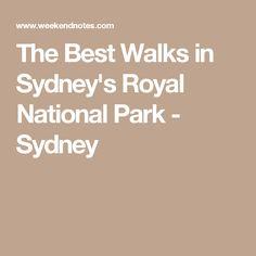 The Best Walks in Sydney's Royal National Park - Sydney