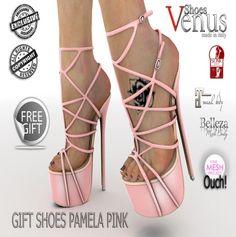 Second Life Free Pamela Pink Shoes