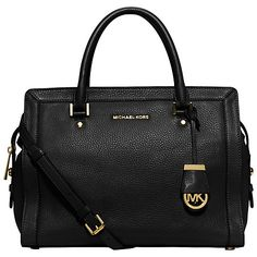 Buy MICHAEL Michael Kors Collins Large Leather Satchel Online at johnlewis.com - testattu Stockalla, toimii