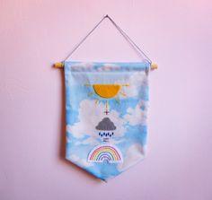 Wetter Gleichung Stoff und Filz hängen Banner von GingerthreadHouse