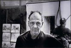 Frank Auerbach in his Studio − Bruce Bernard − b − Artists A-Z ...