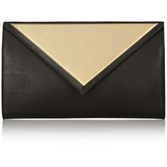 Givenchy Evening clutch in black leather ($1,065) ❤ liked on Polyvore featuring bags, handbags, clutches, purses, bolsas, givenchy, black, leather man bags, leather hand bags and givenchy purse