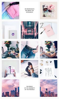 Pink cute girlie minimal clean fashion graphic design portfolio Instagram Feed by Pashion Studio