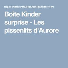 Boite Kinder surprise - Les pissenlits d'Aurore