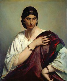 Half-length Portrait Of A Roman Woman  Anselm Feuerbach