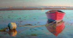 colored pencil water boats painting - Google Search