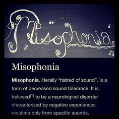 Misophonia is...