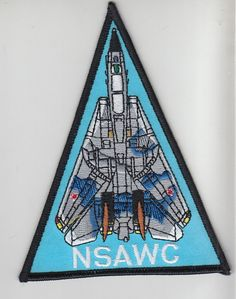 NSAWC TOMCAT Naval Strike Air Warfare Center F-14 Shoulder Triangle - Gray/Blue Colors