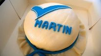 Logo cake for the the CEO of Validators Cupcake Cakes, Cupcakes, Cake Logo, Cupcake, Cup Cakes, Tarts