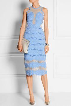 Jonathan Simkhai Cotton-blend brocade and mesh midi dress NET-A-PORTER