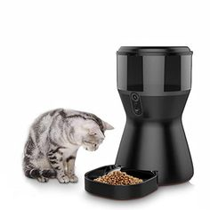 Cat Feeder, App Remote, Ac Power, Colour Black, Schedule, Your Pet, Wifi, Choices, Monitor