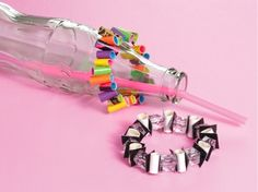 Create fun bracelets using duct tape, beads, straws and elastic cord. Check out the complete tutorial on our site, courtesy of Leisure Arts.