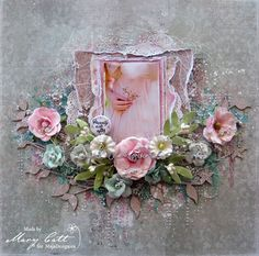 Mary's Crafty Moments: ''Treasure'' - DT Layout for Maja Design April Ins. Anniversary Scrapbook, Wedding Scrapbook, Scrapbook Cards, Scrapbook Examples, Scrapbook Page Layouts, Shabby Chic Canvas Art, Mixed Media Scrapbooking, Scrapbooking Ideas, Cardmaking And Papercraft