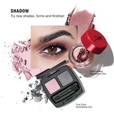 SHADOW. Try new shades, forms and finishes! Shop Makeup | Eyeshadow > http://www.avon.com/category/makeup/eyes/eyeshadow/?c=repPWP&repid=9720704. Don't miss out!