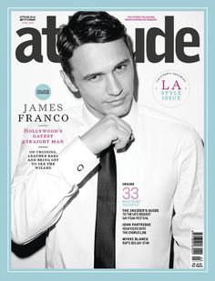 Attitude magazine always have such cool covers. Black and white image, with contrasting blue frame.