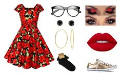 """""""Poppies"""" by hai-i-love-oreos on Polyvore featuring Lime Crime, Bling Jewelry, Converse and Jardin"""