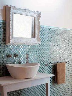 baños con cemento y mosaico - Buscar con Google