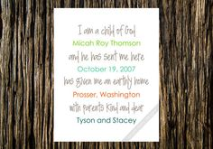 Love this! I am a Child of God Personalized Digital Print