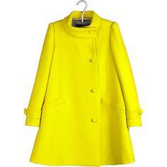 Tara Jarmon Manteau Laine Jaune (2.370 NOK) ❤ liked on Polyvore featuring outerwear, coats, jackets, yellow, coats & jackets, women, satin coat, yellow coat, tara jarmon coat and tara jarmon