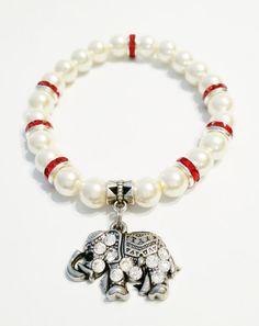 Elephant Bracelet Rhinestone Elephant by VickysLittleSecrets