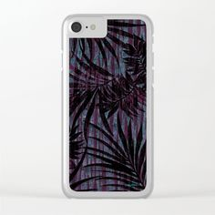 Nassau Nights Clear iPhone Case by Vikki Salmela, new #tropical #night #jungle #palms #art on #tech #accessories, #phone cases, #iPhone, #laptops, and more. Clear cases protect your phone and make a great fashion statement. #Holiday #gift idea as well!