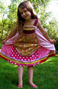 sewing clothes kids love.  feliz dress. cupcake dress by sew country chick, via Flickr