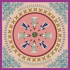 La danse, Silk mousseline bandana – Kridemnon