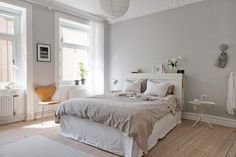 Stylish Interior Design is a light, comfortable, sophisticated and elegant take on interior design and decor. Bedroom Wall Designs, Master Bedroom Design, Home Bedroom, Master Bedrooms, Bedroom Ideas, Scandinavian Interior Bedroom, Beautiful Bedrooms, Interior Design, Stylish Interior
