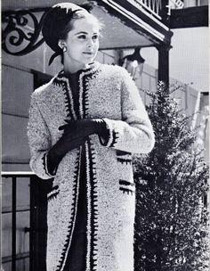Vintage 60s Chic Coat Knitting PDF Pattern  by DivineDigital