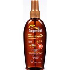 Coppertone Tanning Oil SPF 15 Sunscreen, Tropical Breeze 6 oz