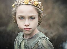 Ruby gold floral crown braids children hairstyle victorian vintage dress Kristen Rice Buffalo, NY
