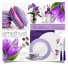 Amethyst.. by vkevans on Polyvore featuring interior, interiors, interior design, home, home decor, interior decorating, Lenox, Könitz, Zara Home and Waterford