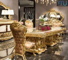 Meja Makan Jakarta Luxury Home Furniture, Kids Bedroom Furniture, Furniture Design, Wooden Dining Tables, Dining Room Table, Wall Painting Decor, Black Phone Wallpaper, Elegant Dining Room, Luxury Homes Dream Houses