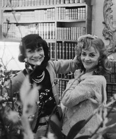 1957 - Coco Chanel & Jeanne Moreau