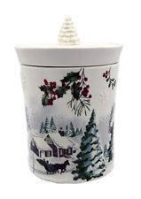 Better homes gardens heritage cookie jar christmas or winter assorted cookie jars for Better homes and gardens canisters