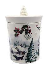 Better Homes Gardens Heritage Cookie Jar Christmas Or Winter Assorted Cookie Jars