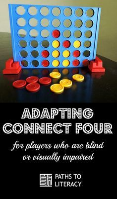 Adapting Connect Four for players who are blind or visually impaired Visually Impaired Activities, Tactile Activities, Activities For Adults, Therapy Activities, Exercise Activities, Elderly Activities, Connect Four, Senior Gifts, Teacher Education