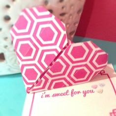 We {heart} origami!  Make these cute origami hearts for #ValentinesDay maybe even include an #OrigamiOwl #Locket with it! www.HelloNatasha.OrigamiOwl.com