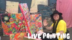 BARRIE J DAVIES LIVE PAINTING AT THE CHAPTER ART CARBOOTIQUE 2017!  🎨
