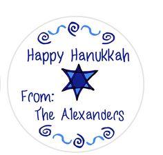 N E W  •*♥*• #pottiteam       Hanukkah Gift Tags Gift Tags Star of David by MoonLitPrintables