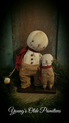 Primitive Snowmen ⛄️                                                                                                                                                                                 More