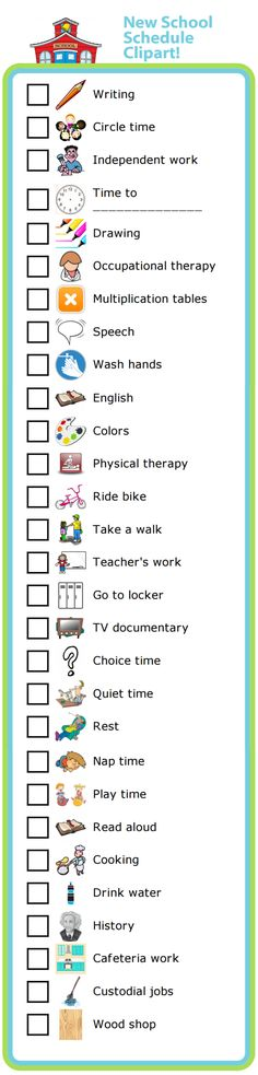 I've added 29 new images to the School Schedule activity, all based on customer feedback!  You can use these pictures to create a schedule for your home school, or to help a special needs child know what to expect from their school day. This works very well for kids with Autism, Asperger's, or ADHD.  There are now more than 70 clipart images to choose from to make your own school schedule.