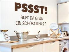 """Wandtattoo Küche 11848 """"Pssst! Ruft da etwa ein... von I-love-Wandtattoo auf DaWanda.com"""